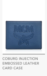 COBURG INJECTION EMBOSSED LEATHER CARD CASE