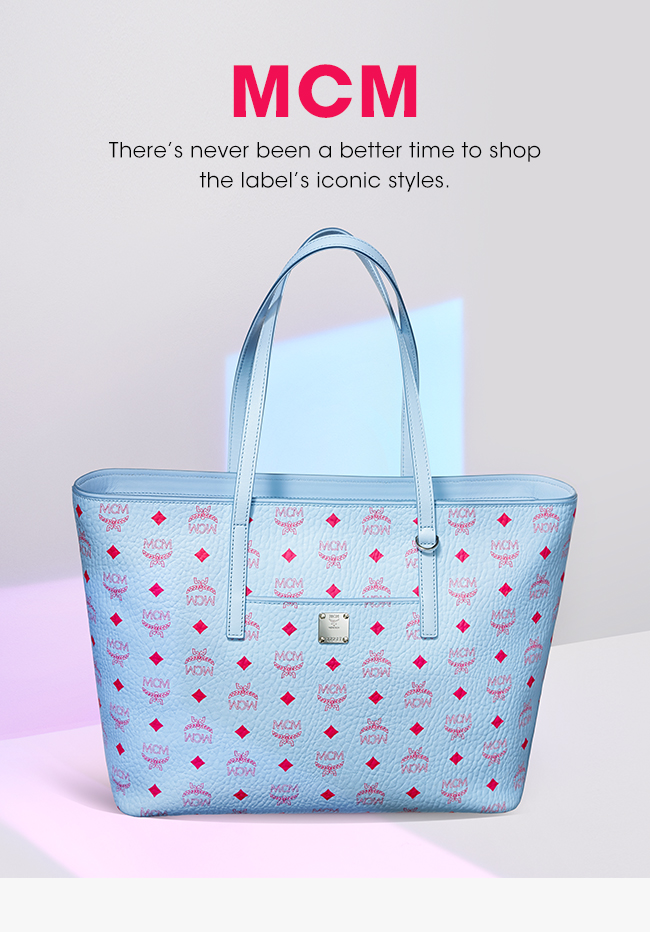 MCM | There's never been a better time to shop the label's iconic styles.