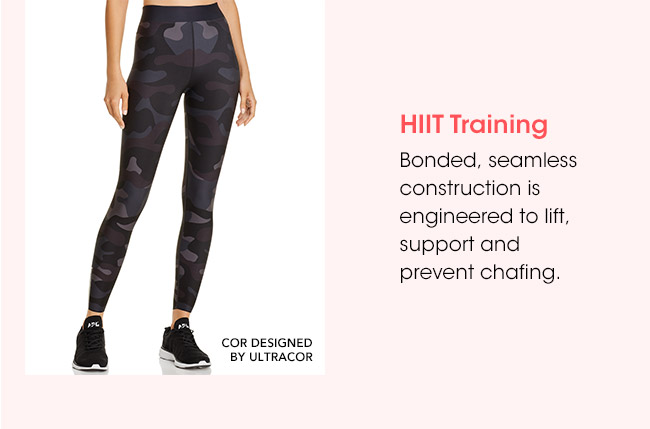 HIIT Training | Bonded, seamless construction is engineered to lift, support and prevent chafing. | COR DESIGNED BY ULTRACOR